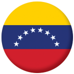 Venezuela Country Flag 58mm Button Badge